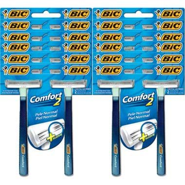 Aparelho Barbear Bic Comfort Twin Normal 2un. Cj. C/ 12 Cartelas
