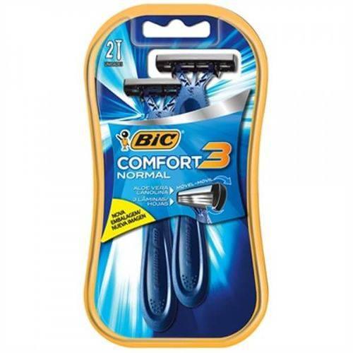Aparelho de Barbear Bic Comfort 3 Cabeça Móvel Pele Normal (Emb. Contém 12 Pacotes com 2un. Cada)