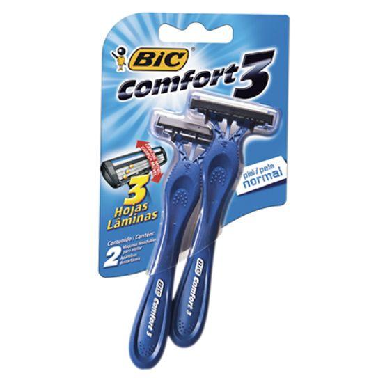 Aparelho de Barbear Bic Comfort 3 Pele Normal com 2 Unidades