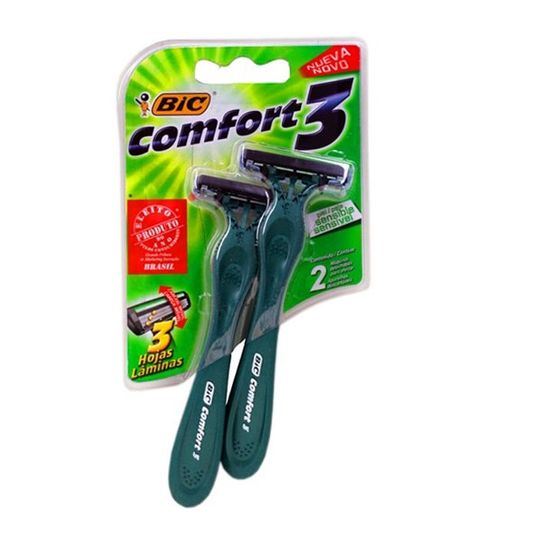 Aparelho de Barbear Bic Comfort 3 Pele Sensível com 2 Unidades