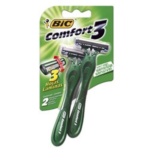 Aparelho de Barbear Bic Comfort 3 Pele Sensível 2 Unidade