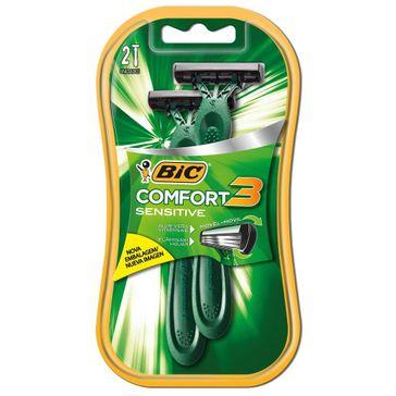 Aparelho de Barbear Bic Confort 3 Pele Sensível 2 Unidades