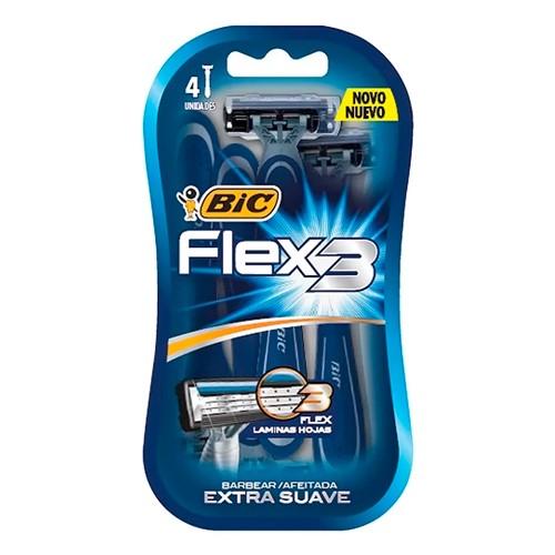 Aparelho de Barbear Bic Flex 3 Extra Suave 4 Unidades