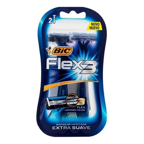 Aparelho de Barbear Bic Flex 3 Extra Suave com 2 Unidades