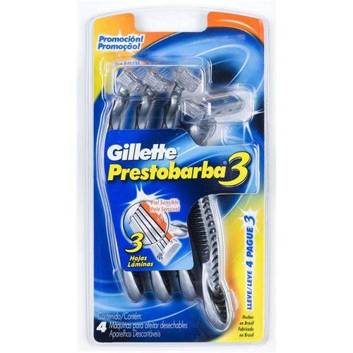 Aparelho de Barbear Gillette Prestobarba 3 Leve 4 Pague 3