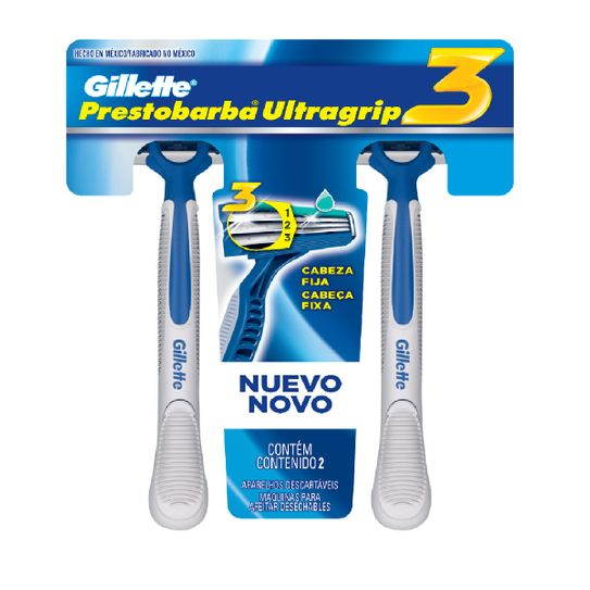 Aparelho de Barbear Gillette Prestobarba 3 Ultragrip com 2 Unidades