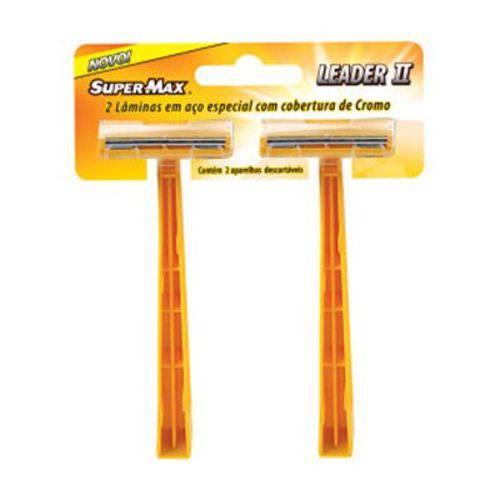 Aparelho de Barbear Supermax Leader Amarelo - 2 Unidades