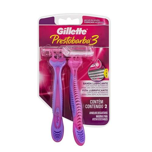 Aparelho de Depilação Gillette Prestobarba3 Descartável com 2 Unidades