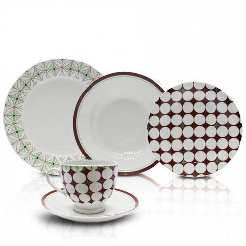 Aparelho de Jantar 20 Peças Porcelana APJA027 Casambiente