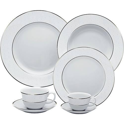 Aparelho de Jantar 30 Peças Porcelana Diamond - Oxford Porcelanas