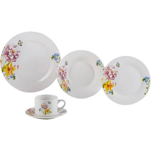Aparelho de Jantar 20 Peças Porcelana Summer Branco - Lyor