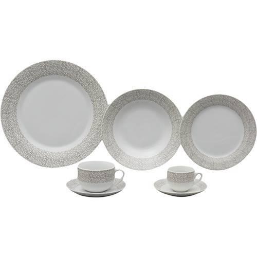 Aparelho de Jantar 42 Peças de Porcelana Saragoça - Wolff