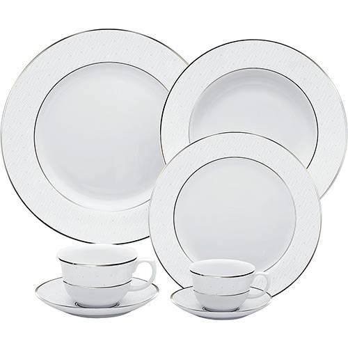 Aparelho de Jantar 42 Peças Porcelana Diamond - Oxford Porcelanas