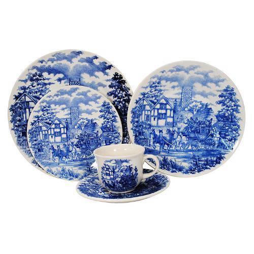 Aparelho de Jantar/Chá 20 Peças Actual Cena Inglesa Oxford Porcelanas
