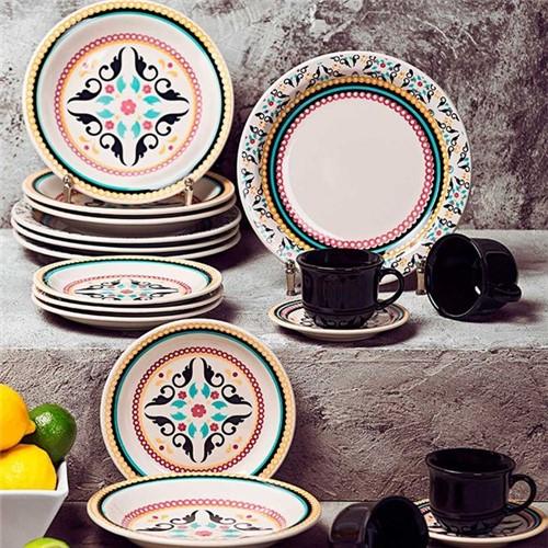 Aparelho de Jantar e Chá 30 Peças Oxford Daily Luiza Luiza