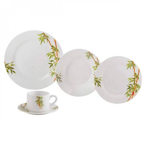 Aparelho de Jantar Porcelana 20 Peças Tropicalis Lyor Branco