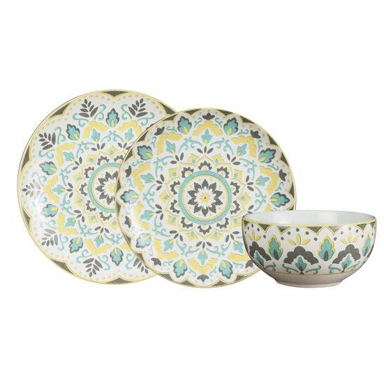 Aparelho de Jantar Porcelana 18 Peças Morlac