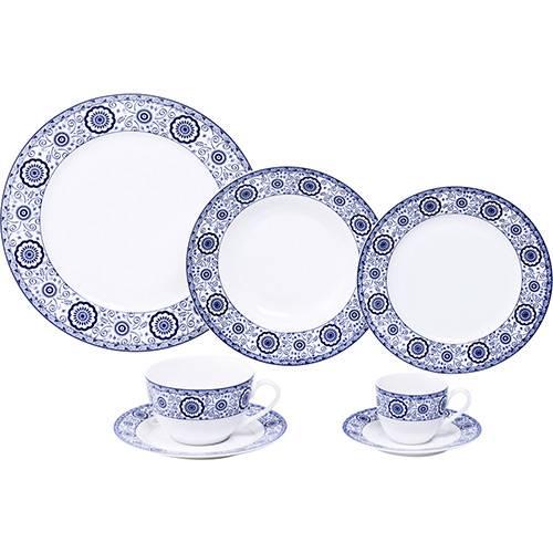 Aparelho de Jantar Sintra 42 Peças Porcelana Azul - Lyor