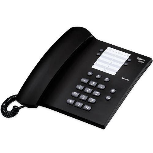 Aparelho de Telefone com Fio, Rediscagem e 14 Memórias, Preto DA100 - Gigaset