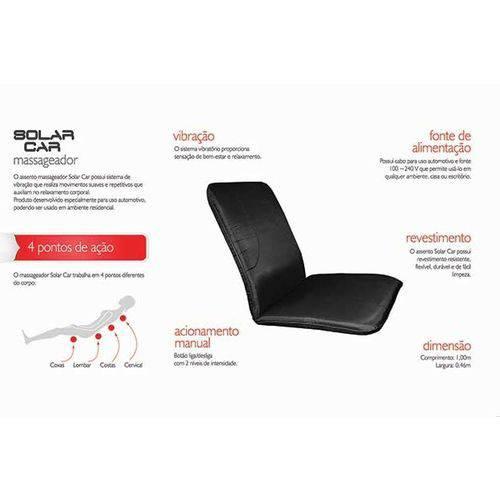- Aparelho Massageador Elétrico Bivolt Massagem Vibração Assento Carro Solar Car Fisiomedic Original