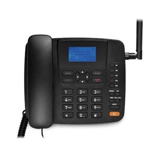 Aparelho Telefone Celular Rural Fixo Multilaser Quadriband 3G Preto - RE504