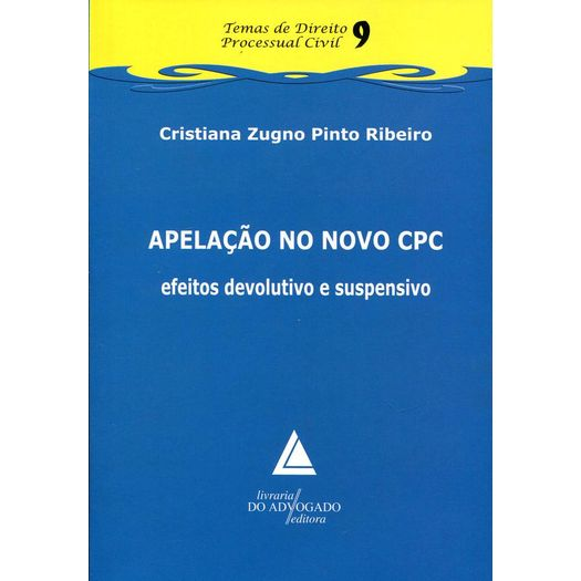 Apelacao no Novo Cpc - Vol 9 - Livraria do Advogado
