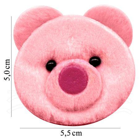 Aplicação Cabeça de Urso Gerson Rosa - 1 Unid.