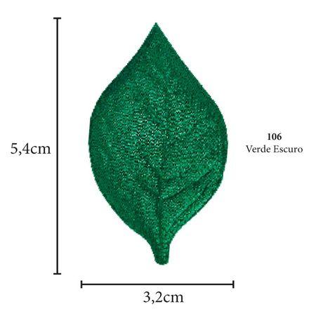 Aplicação Folha Cetim - 5 Unid. 106 - Verde Escuro