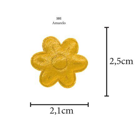 Aplicação Mini Flor Cetim - 5 Unid. 101 - Amarelo