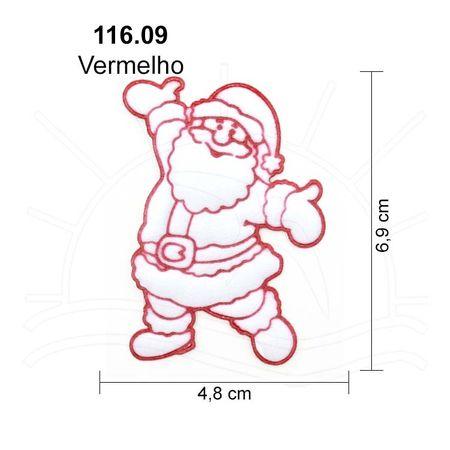Aplicação Natal Papai Noel Cetim - 3 Unid. 116.09 - Vermelho