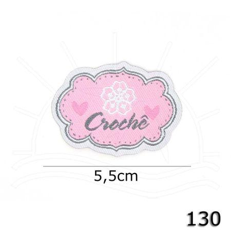 Aplicação Termocolante Crochê Flor 130