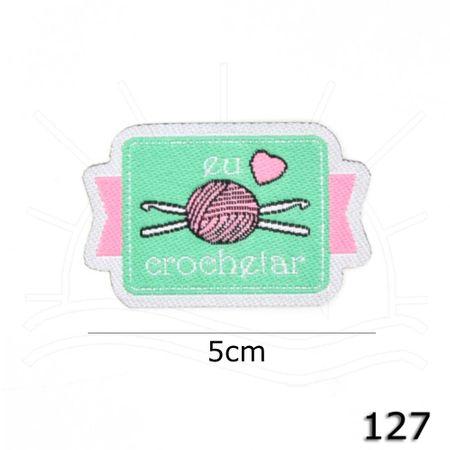 Aplicação Termocolante eu Amo Crochetar 127