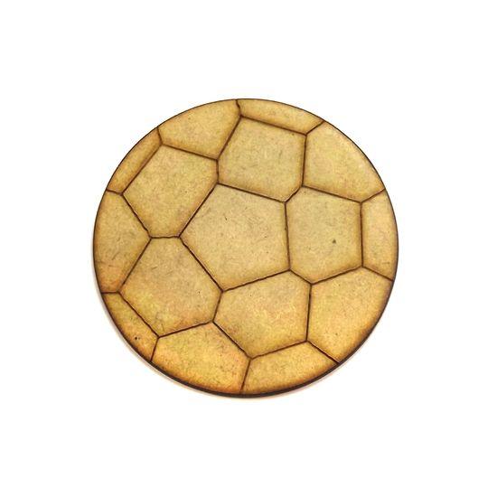 Aplique Bola de Futebol 7,5x7,5cm - MDF a Laser