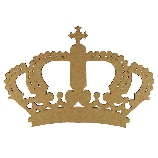 Aplique Coroa Imperial em MDF 25x17cm - Palácio da Arte