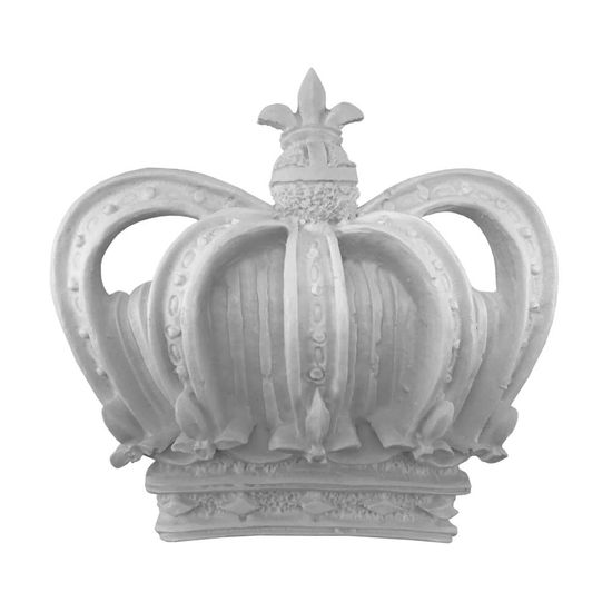 Aplique Coroa Imperial Rei 10x10,5x2,5cm - Resina