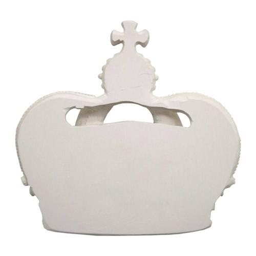 Aplique Coroa Rei Grande com Detalhes 16x15 - Resina