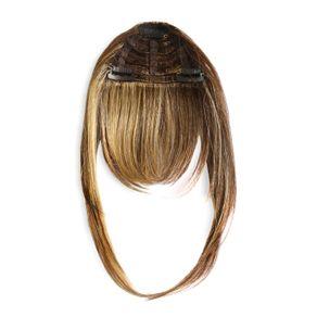 Aplique de Cabelo Hairdo Franja Castanho com Mechas Douradas