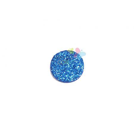 Aplique de EVA Bola Azul Royal Glitter - Tamanho G - 50 Unidades