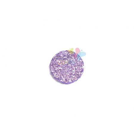 Aplique de EVA Bola Lilás Glitter - Tamanho PP - 50 Unidades