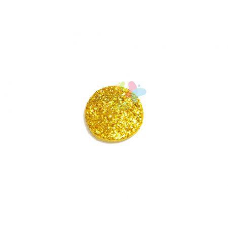 Aplique de EVA Bola Ouro Glitter - Tamanho P - 50 Unidades