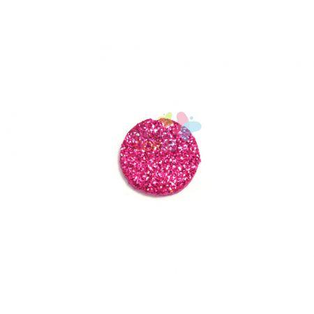 Aplique de EVA Bola Pink Glitter - Tamanho PP - 50 Unidades