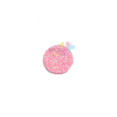 Aplique de EVA Bola Rosa Glitter - Tamanho G - 50 Unidades