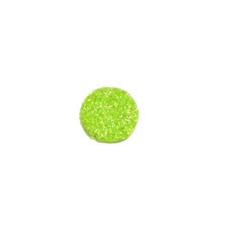 Aplique de EVA Bola Verde Claro Glitter - Tamanho G - 50 Unidades