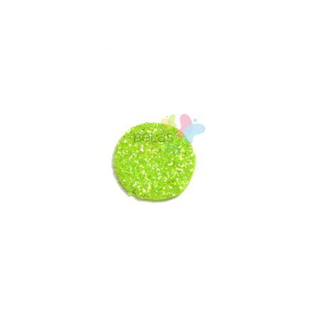 Aplique de EVA Bola Verde Claro Glitter - Tamanho PP - 50 Unidades