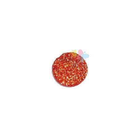 Aplique de EVA Bola Vermelho Glitter - Tamanho G - 50 Unidades