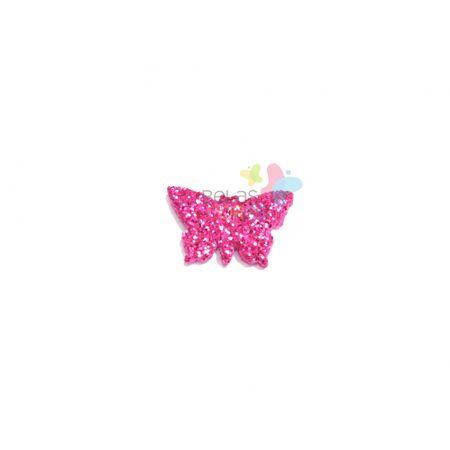 Aplique de EVA Borboleta Pink Glitter - Tamanho PP - 50 Unidades