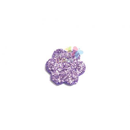 Aplique de EVA Escalope Lilás Glitter - Tamanho PP - 50 Unidades