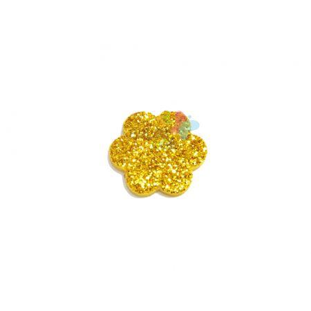 Aplique de EVA Escalope Ouro Glitter - Tamanho PP - 50 Unidades