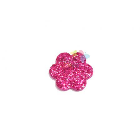 Aplique de EVA Escalope Pink Glitter - Tamanho PP - 50 Unidades
