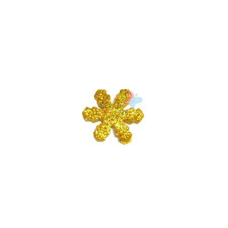 Aplique de EVA Gelo Ouro Glitter - Tamanho P - 50 Unidades